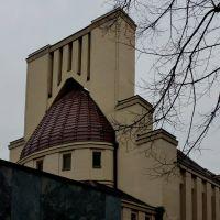Görlitz, erstes Krematorium in Schlesien im Jugendstil von 1913 mit Anbau von 2003, Герлиц