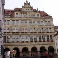 Untermarkt, vor dem neuen Rathaus, Герлиц