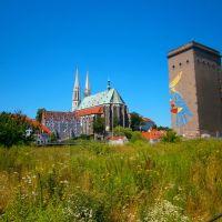 Blick auf die evangelische Pfarrkirche St.Peter in Görlitz, Герлиц