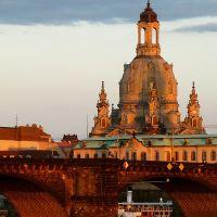 Dresden, Frauenkirche im Abendlicht, Дрезден