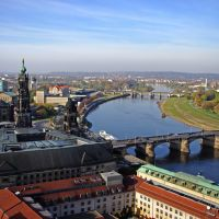 Elbe River in Dresden, Germany, Дрезден