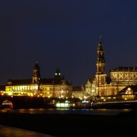 Blick vom Palaisgarten auf die Dresdner Altstadt, Дрезден