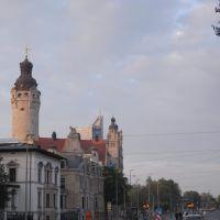 Leipzig ★2010★  Neues Rathaus und Uni-Riese, Лейпциг