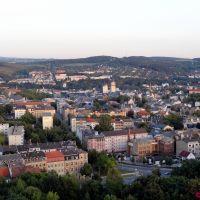 Blick übers Stadtzentrum zum Kemmler, Плауэн