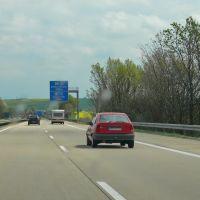 Road A14, Germany, Радебюль