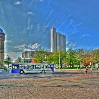 "Chemnitz - City mit Roter Turm, Stadthalle und Hotel ""Mercure""-DRI-Format, Хемниц"