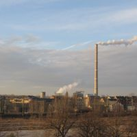 Heizkraftwerk mit 307 m hohem Schornstein, Хемниц