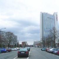 """Chemnitz-Brückenstraße und Hotel """"Mercure"""", Хемниц"""