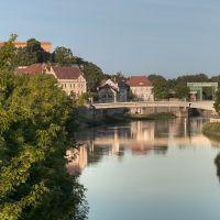 Blick auf die Marktbrücke, Бернбург