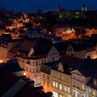 vom Türmerstübchen, der Marienkirche, aus gesehen, Бернбург
