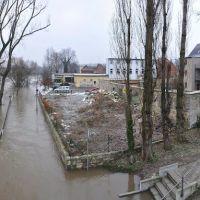 Saale-Hochwasser Januar 2011 in Weißenfels, Вейссенфельс