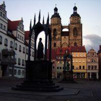 Marktplatz zu Wittenberg in der Abenddämmerung, Виттенберг