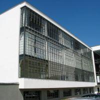 Bauhaus Dessau (Werkstattflügel mit Glasvorhangfassade), Дессау