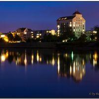 Magdeburg - Spiegelungen zur Blauen Stunde, Магдебург
