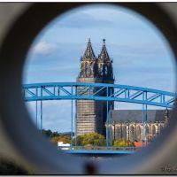 Magdeburg - Durchblick zum Dom, Магдебург