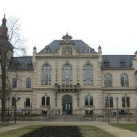 Bild (1)  Das * Ständehaus Merseburg *.  Eine  Ansicht  vom   > Schloßgarten  >  aus, Мерсебург