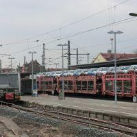 Reger Betrieb  auf  den * Gleisanlagen *  am  Bahnhof   >Merseburg  < in  Sachsen - Anhalt., Мерсебург