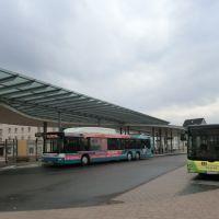 Der * Busbahnhof *  in   > Merseburg  < i  n Sachsen - Anhalt im  April 2013., Мерсебург