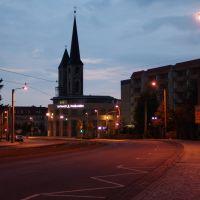 Blick auf die Martinikirche  nachts, Халберштадт