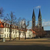 Halberstadt, Domplatz mit Dom St. Stephanus und Sixtus, Халберштадт