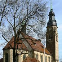 Altenburg  - Blick auf die Herzogin-Agnes-Gedächtniskirche, die zum Gedächtnis der am 23. Okt.1897 verstorbenen Herzogin Agnes gestiftet wurde, geweiht 1906, Альтенбург