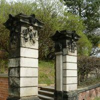 Schloss Altenburg  - Die Eingangssäulen des Tors zum Schlosspark, Альтенбург