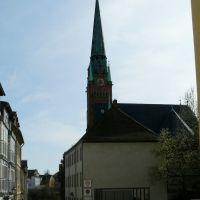 Altenburg - Blick in die Brüdergasse mit Pfarramt und Brüderkirche, Альтенбург