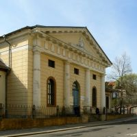 """Altenburg - Blick auf das 1802-1804 erbaute Logenhaus der Freimaurerloge """"Archimedes zu den drei Reißbretern"""", Альтенбург"""