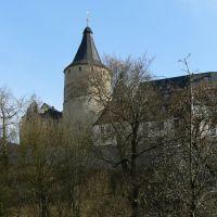 """Altenburg - Blick über den Pauritzer Teich auf die Junkerei & die """"Flasche"""" des Schlosses vom Norden, Альтенбург"""