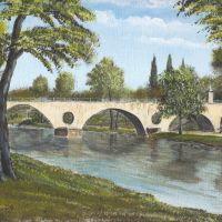 Sternbrücke am Stadtschloß in einer klassischen Ansicht !!!, Веймар