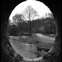 Blick nach Norden aus dem Inneren der Sternbrücke, Веймар