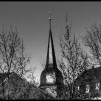 Turm des Jakobskirche aus dem Goetheplatz, Веймар