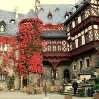 Ka/ Wernigerode Im Schlosshof, Вернигероде