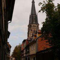 Wernigerode - Büchtingenstraße mit Liebfrauenkirche, Вернигероде