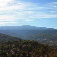 Wernigerode Castle view to the Brocken Mountain, Вернигероде
