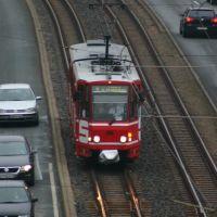 Gotha, CKD KT4D tram from the roof..., Гота