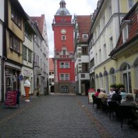 Quergasse, Richtung Rathaus, Гота