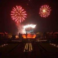 Feuerwerk über Schloss Friedrichsthal, Гота