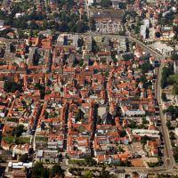 Luftaufnahme Gotha Altstadt um St.Margarethen am Neumarkt, Гота