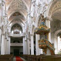 Amberg; Kirche St. Georg. Orgel und Kanzel. © byUdoSm.the2nd, Амберг
