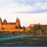 Aschaffenburg; Schloss Johannisburg im Abendlicht (TR), Ашхаффенбург