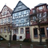 Historic Aschaffenburg: Half-timbered houses in Dalbergstr., Ашхаффенбург