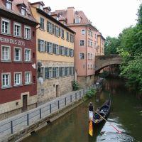 Venezianischer Gondolier im Alten Kanal, Бамберг