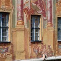 Fassade Altes Rathaus mit herauswachsendem Fuß, Бамберг
