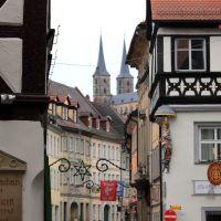Bamberg - Ruelle sur léglise, Бамберг