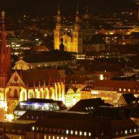 Würzburg bei Nacht (Marienkapelle und Stift Haug), Вюрцбург