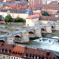 Alte Mainbrücke - Würzburg, Germany., Вюрцбург