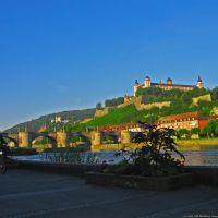GER Wuerzburg Alte Mainbruecke - Festung Marienberg [Main] [RR KWOT by KWOT], Вюрцбург