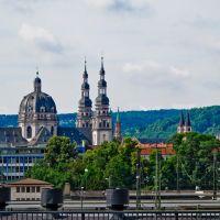 Blick über den Dächern von Würzburg., Вюрцбург