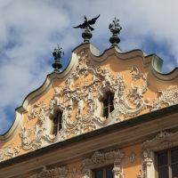 Blendgiebel am Haus zum Falken, Würzburg, Вюрцбург